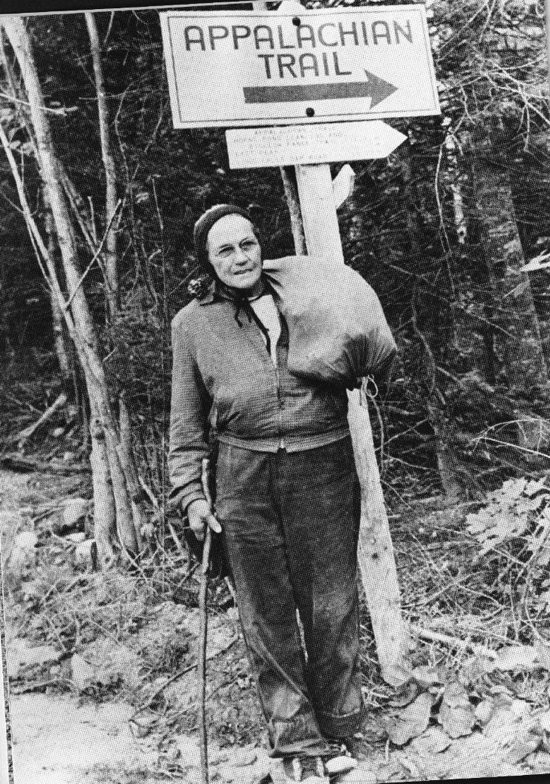 Grandma Gatewood.  Source:  Appalachian Trail Museum