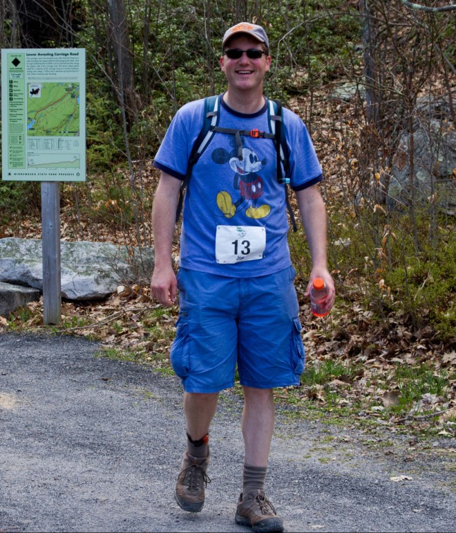 The Mohonk Preserve's own Joe Alfano stepped up to the challenge...and completed 50 miles.  Credit: Mohonk Preserve Volunteer Photographers