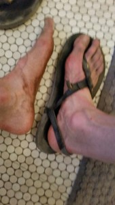 Author's feet in LUNA Sandals