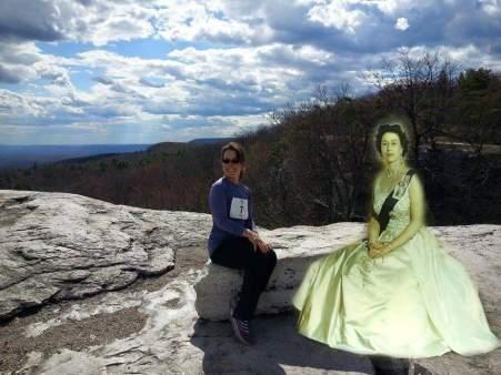 Lisa Mackey and Queen Elizabeth