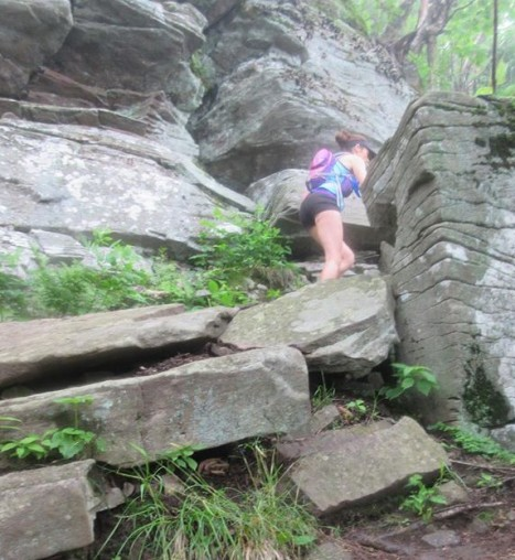 Amy Hanlon climbing Indian Head