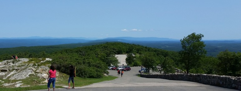 View from High Point State Park looking north to Minnewaska and Mohonk Preserve