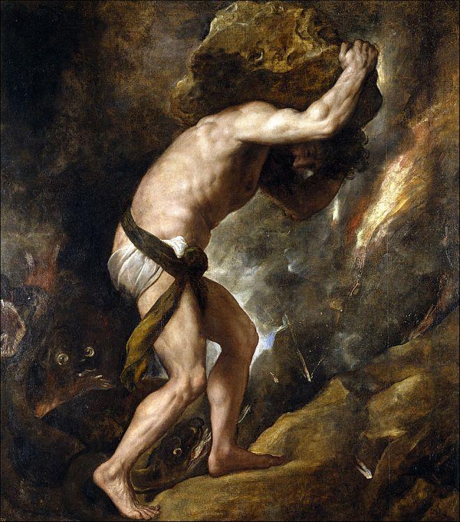 Sisyphys (1548–49) by Titian, Prado Museum, Madrid, Spain