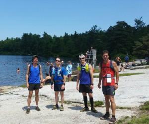 Marathon course training run,  July 2015