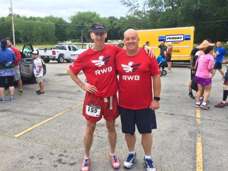 Author and Jim Pease at start of Beast of Burden. Credit: Jim Pease