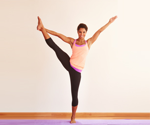 extended balance pose